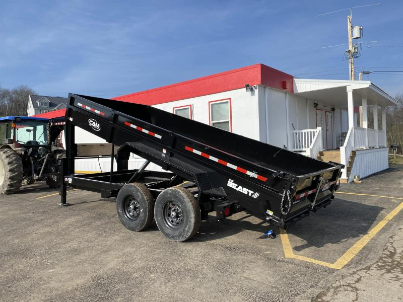 "NEW 2021 CAM 6'9"" x 16' HD ""BEAST"" Lo Pro Gooseneck Equipment Dump Trailer"