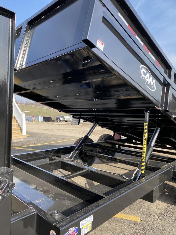 "NEW 2021 CAM 6'9"" x 16' HD ""BEAST"" Lo Pro Gooseneck Equipment Dump Trailer"
