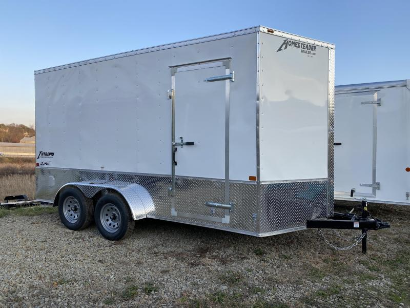 NEW 2021 Homesteader 7x14 Intrepid V-Nose Cargo w/Ramp Door