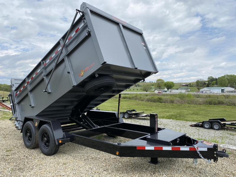 "NEW 2022 BWise 6'9"" x 14 HD Ultimate Dump Trailer w/ Hydraulic Gate"