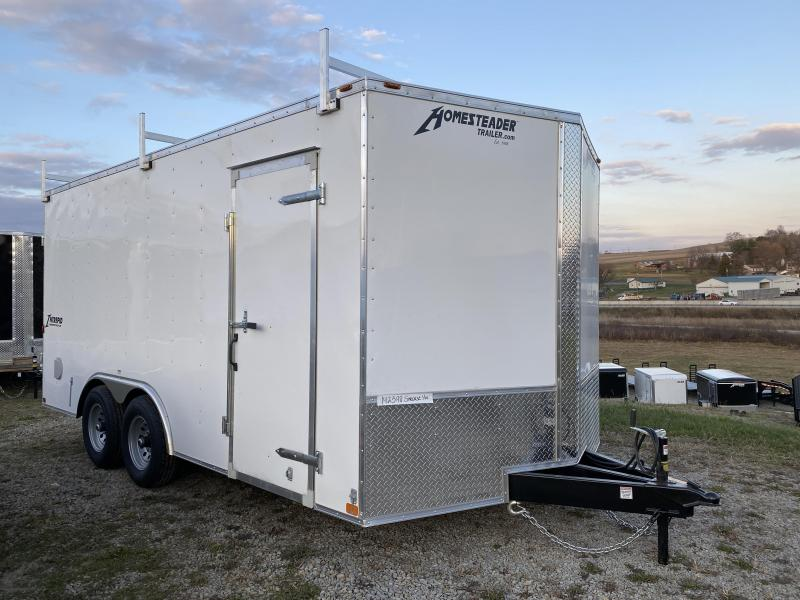 NEW 2021 Homesteader 8.5 x 16 HD Intrepid V-Nose Cargo Trailer w/ Rear Barn Doors