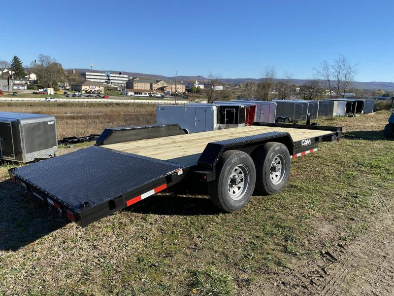 NEW 2021 CAM 18' HD Car Hauler w/ Underbody Ramps & Removable Fender