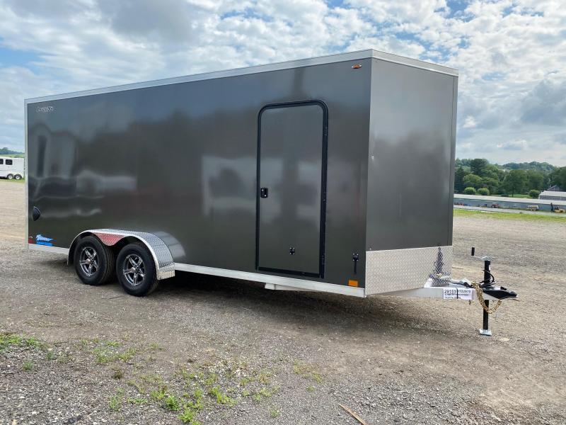 NEW 2021 Legend 7x18 + 2' V-Nose Thunder Aluminum Cargo Trailer w/ Ramp