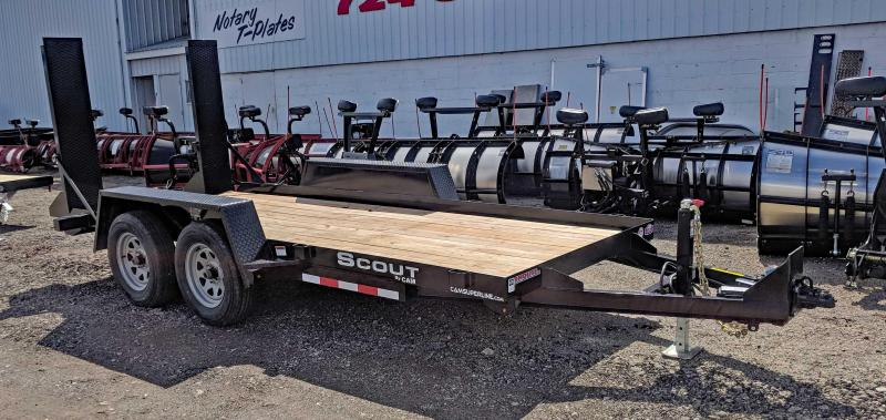 NEW 2021 CAM 14' Scout Equipment Hauler w/ Stand Up Ramps