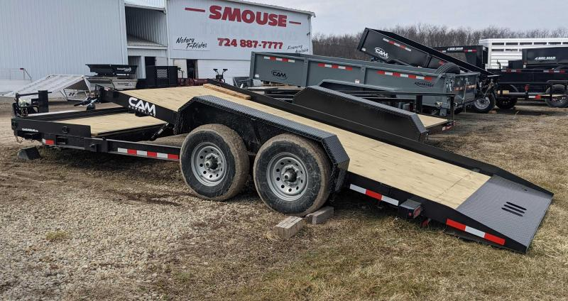 NEW 2021 CAM 19' (4+15) Lo Pro Split Tilt Trailer w/ Pallet Fork Carrier