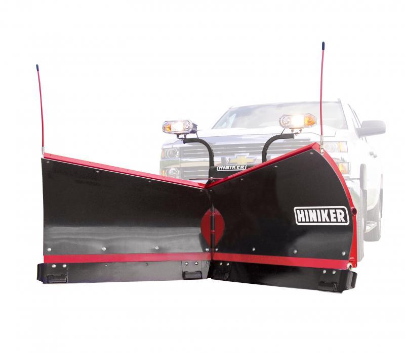 NEW Hiniker 9.5' Torsion Trip Poly V-Plow w/ Curb Guards & Wear Plates