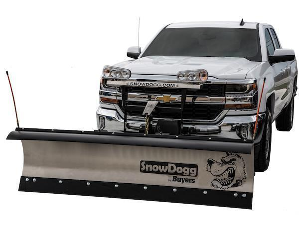 NEW 2020 SNOWDOGG 8' Gen 2 Medium Duty Stainless Steel Snow Plow