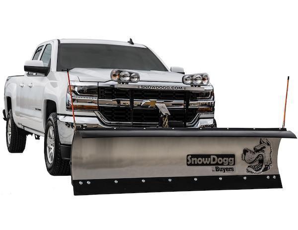 NEW 2020 SNOWDOGG 8' Gen 2 Medium Duty Stainless Steel Snow Plow