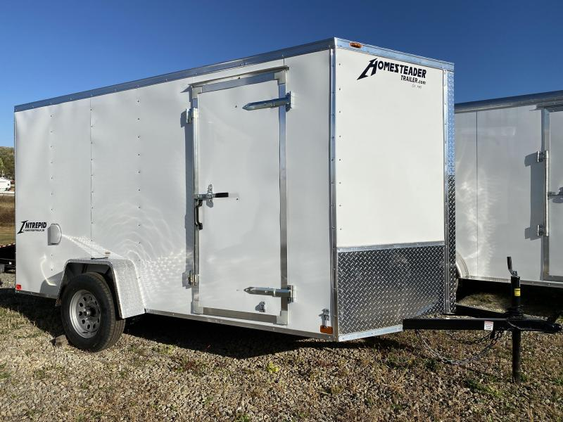 NEW 2021 Homesteader 6x10 Intrepid V-Nose Cargo Trailer w/Ramp Door