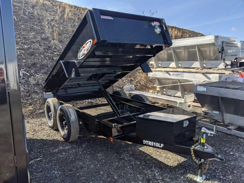 NEW 2021 Bri-Mar 5x10 HD Lo Pro Dump Trailer w/ One Piece Gate