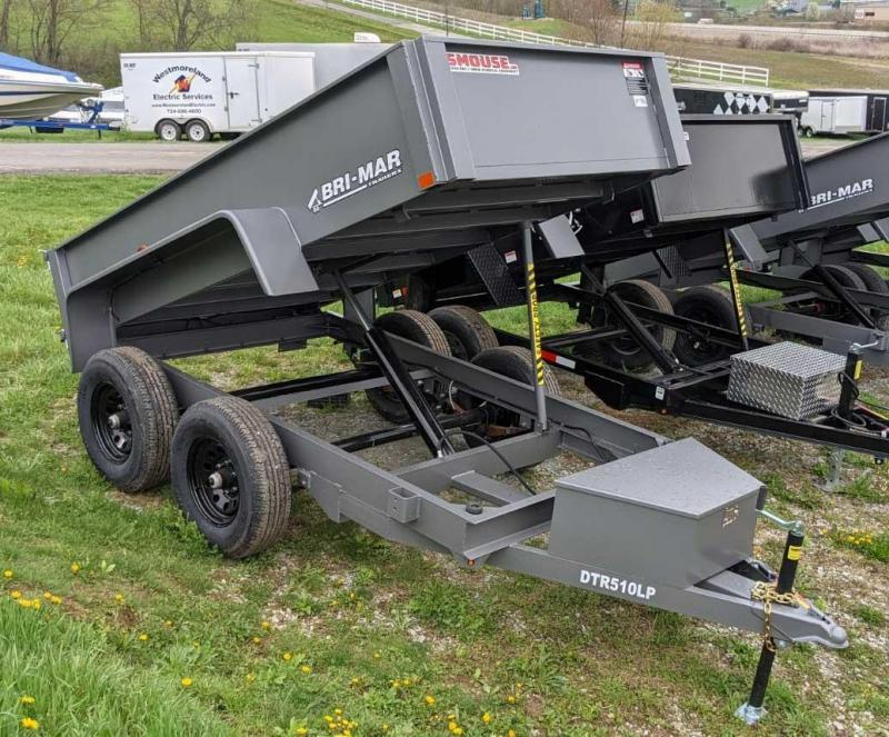 NEW 2021 Bri-Mar 5x10 Tandem Lo Pro Dump Trailer