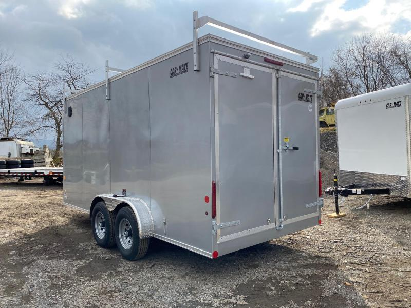 NEW 2020 Car Mate 7x16 HD Contractor Trailer w/ Barn Doors ( Extended Height & Heavier Axles)