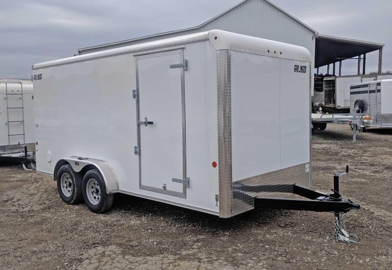 "NEW 2022 Car Mate 7x16 HD Custom Cargo Trailer w/ Barn Doors (6"" Add'l Height)"