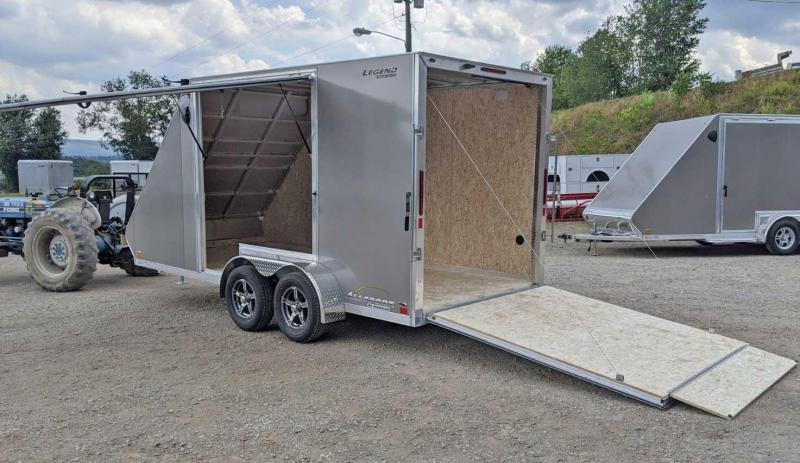 NEW 2021 Legend 7x17 All Sport Enclosed Aluminum Trailer w/ Ramp Door - Just Step Out of Your Side by Side!