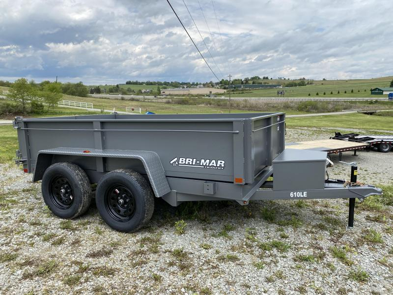 NEW 2022 Bri-Mar 6x10 Lo Pro Equipment Dump w/ Underbody Ramps