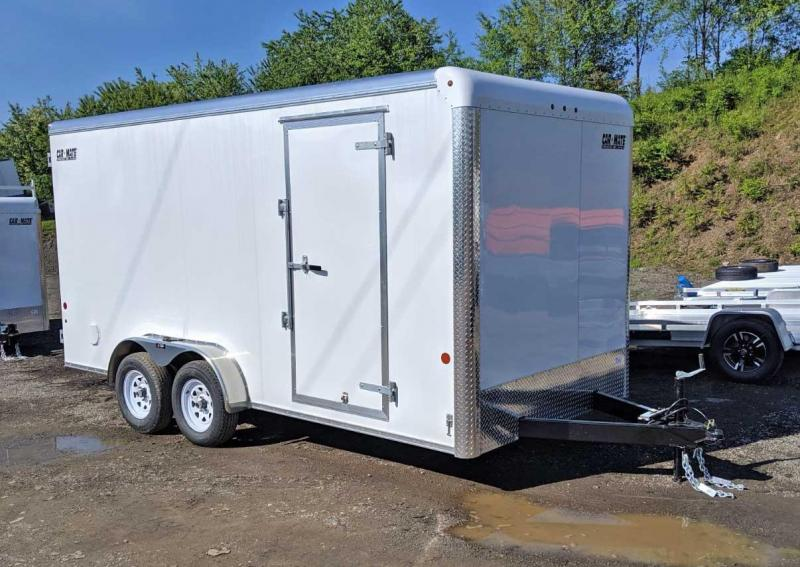 "NEW 2020 Car Mate 7x16 HD Custom Cargo Trailer w/ Ramp Door (12"" Add'l Hgt)"