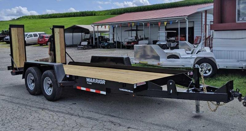 NEW 2022 CAM 16' Warrior Equipment Hauler w/ 5' Wood Filled Stand Up Ramps