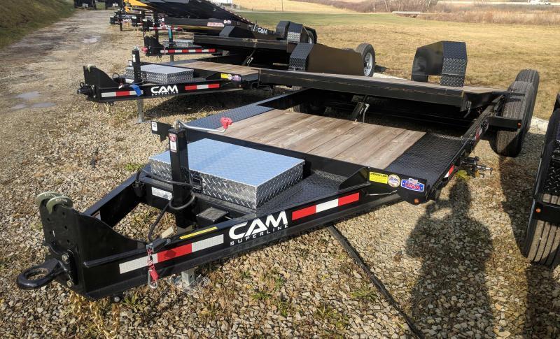 NEW 2021 CAM Superline 21' (4+17) HD XW Lo Pro Split Tilt Trailer (8K Axles)