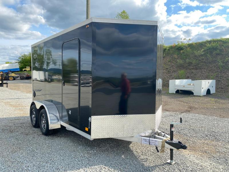 NEW 2022 Legend 7x14 (12 + 2' V) Thunder V-Nose Cargo Trailer w/ Ramp Door