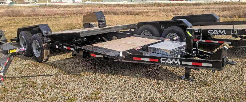NEW 2021 CAM Superline 20' (4+16) HD Extra Wide Lo Pro Split Tilt Trailer (8K Axles)