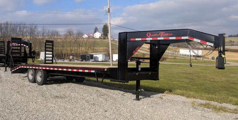 NEW 2020 Quality 24+4 HD PRO Deckover Gooseneck Equipment Hauler