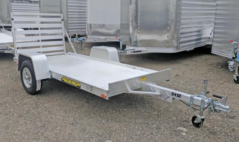 "NEW 2022 Aluma 4'6"" x 10' LW Utility Trailer"