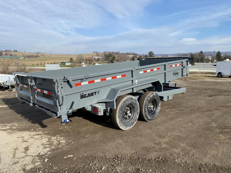 "NEW 2021 CAM 6'9"" x 16' HD ""BEAST"" Lo Pro Equipment Dump Trailer"