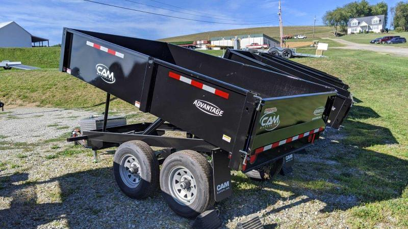 "NEW 2021 CAM ""Advantage"" 6x10 Deckover Dump Trailer w/ Fixed Sides"