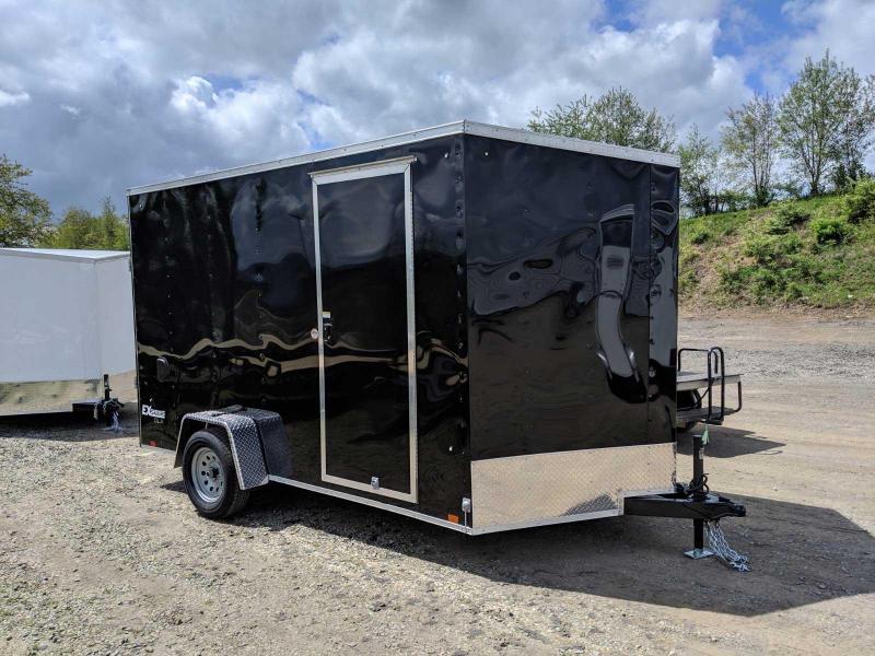 """NEW 2021 Cargo Express 7x12 EX DLX Sloped V-Nose Cargo Trailer w/ Ramp (84"""" Inside Height)"""