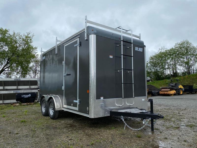 NEW 2021 Car Mate 7x14 HD Custom Contractor Trailer w/ Rear Barn Doors
