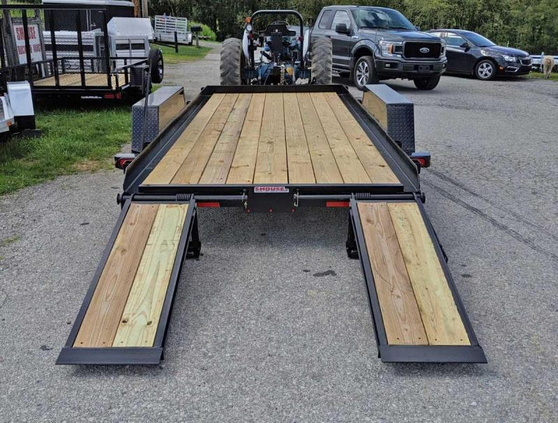 NEW 2021 CAM 16' Warrior Equipment Hauler w/ 5' Wood Filled Stand Up Ramps