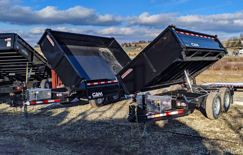 "NEW 2021 CAM Superline 6x10 ""3 Way"" Deckover Dump Trailer"