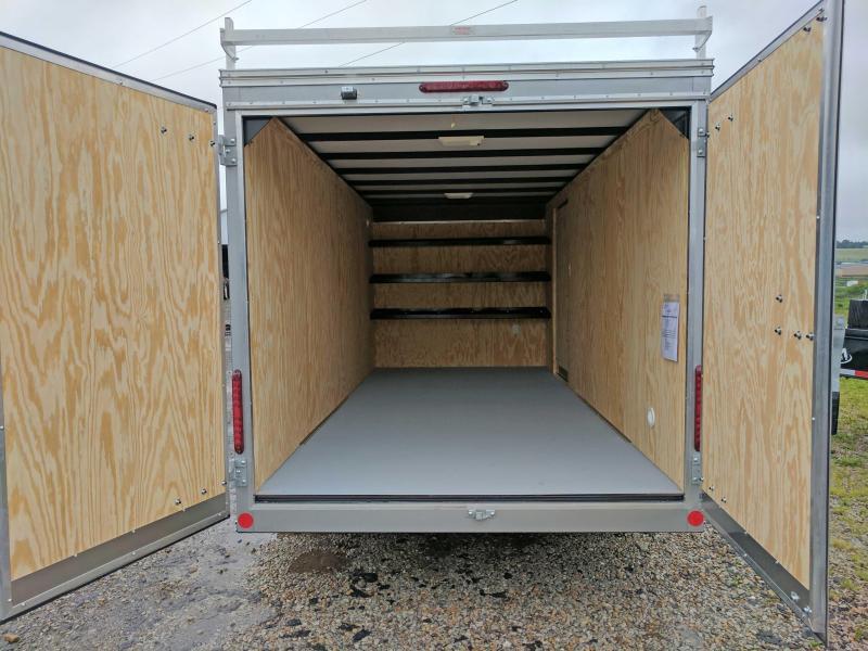 NEW 2021 Car Mate 7x18 HD Contractor Cargo Trailer w/ Rear Barn Doors