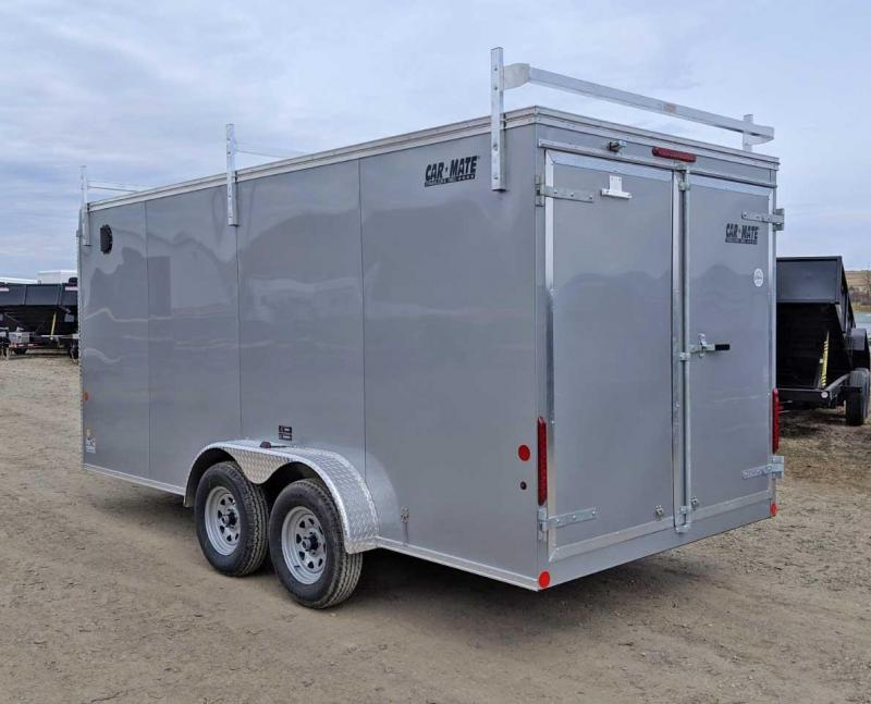NEW 2021 Car Mate 7x18 HD Contractor Cargo Trailer w/ Rear Barn Doors