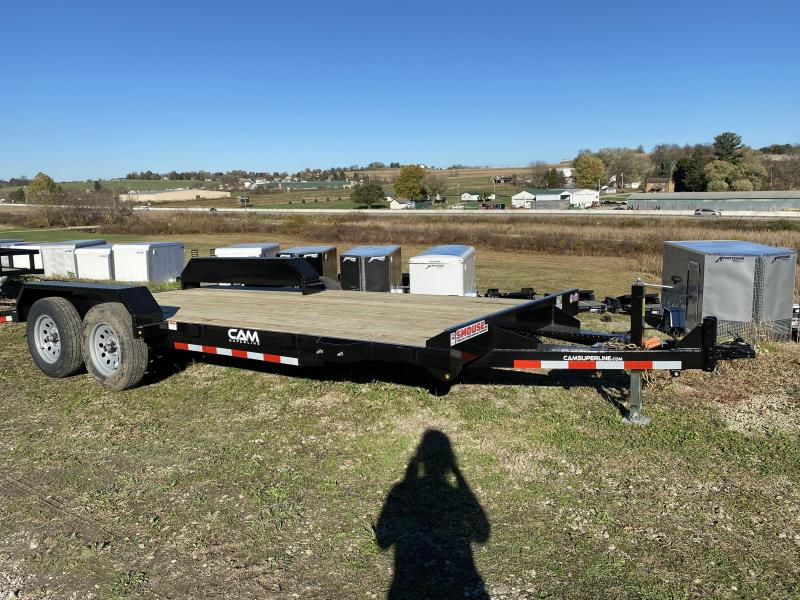 NEW 2021 CAM SUPERLINE 18' Car Hauler w/ Underbody Ramps & Removable Fender