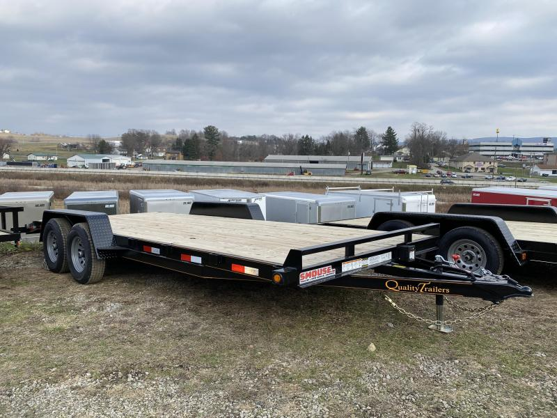 NEW 2021 Quality 18' General Duty Car Hauler w/ 2' Dove