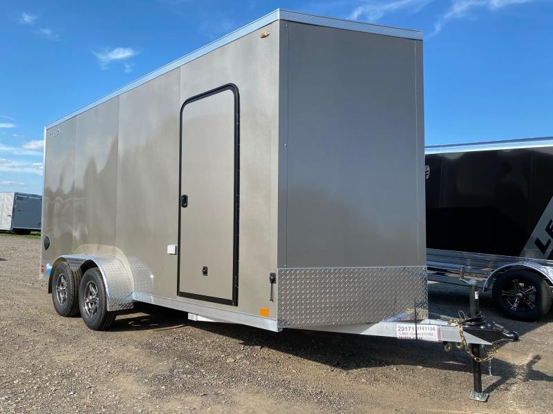 NEW 2021 Legend 7x16 + 2' V-Nose Thunder ALUMINUM Cargo Trailer w/ Rear Ramp Door-EXTENDED HGHT