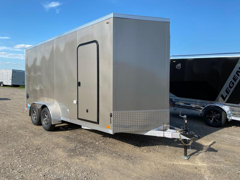NEW 2021 Legend 7x16 + 2' V-Nose Thunder ALUMINUM Cargo Trailer w/ Rear Ramp Door-EXTENDED HGHT