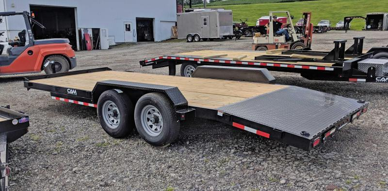 NEW 2020 CAM 18' HD Car Hauler w/ Wood Deck & Removable Fender