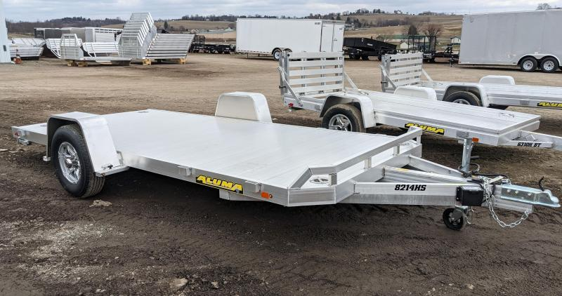 "NEW 2022 Aluma 6'10"" x 14' HD Single Axle Utility Trailer w/ Underbody Ramps"