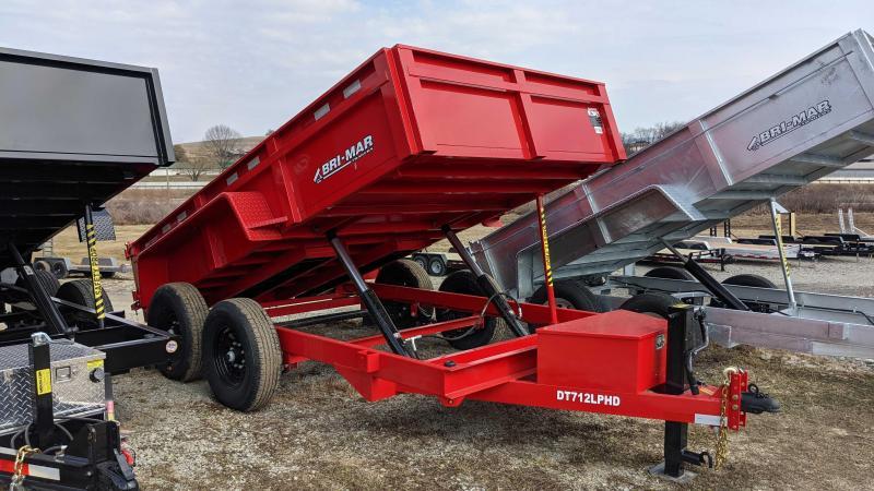 "NEW 2021 Bri-Mar 6'9"" x 12 HD Lo Pro Equipment Dump w/ Underbody Ramps"
