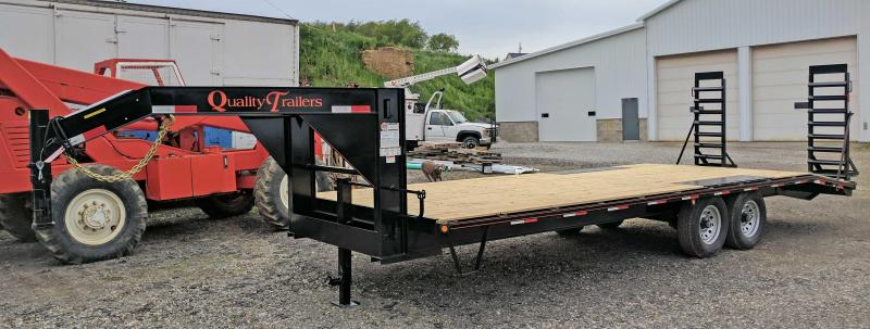 NEW 2021 Quality 20+4 General Duty Deckover Gooseneck w/ Stand Up Ramps