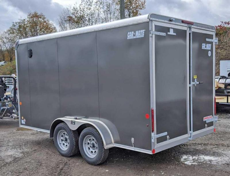 "NEW 2021 Car Mate 7x14 HD Custom Cargo Trailer w/ Barn Doors & 6"" Add'l Hgt"