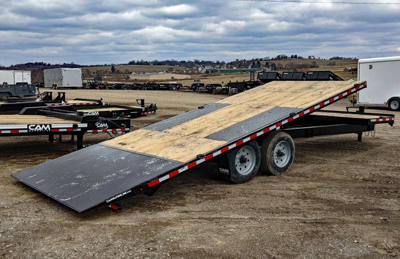 NEW 2021 CAM 24' HD (4' + 20' Tilt) Deckover Split Tilt Trailer (8K Axles)