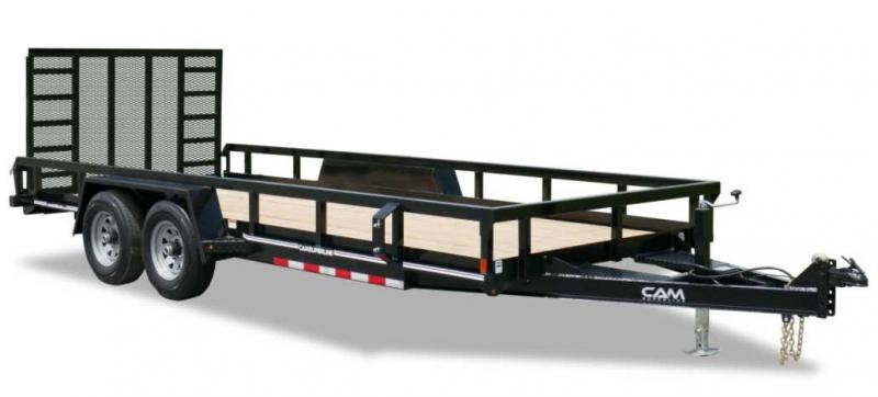 NEW 2021 CAM Superline 7x20 HD Utility Trailer w/ Spring Assist Gate