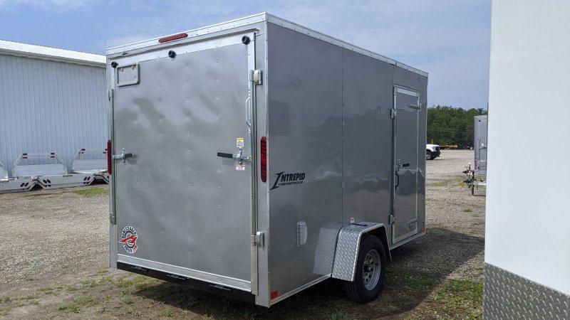 NEW 2021 Homesteader 7x12 Intrepid V-Nose Cargo Trailer w/ Ramp Door (Ramp Extension)