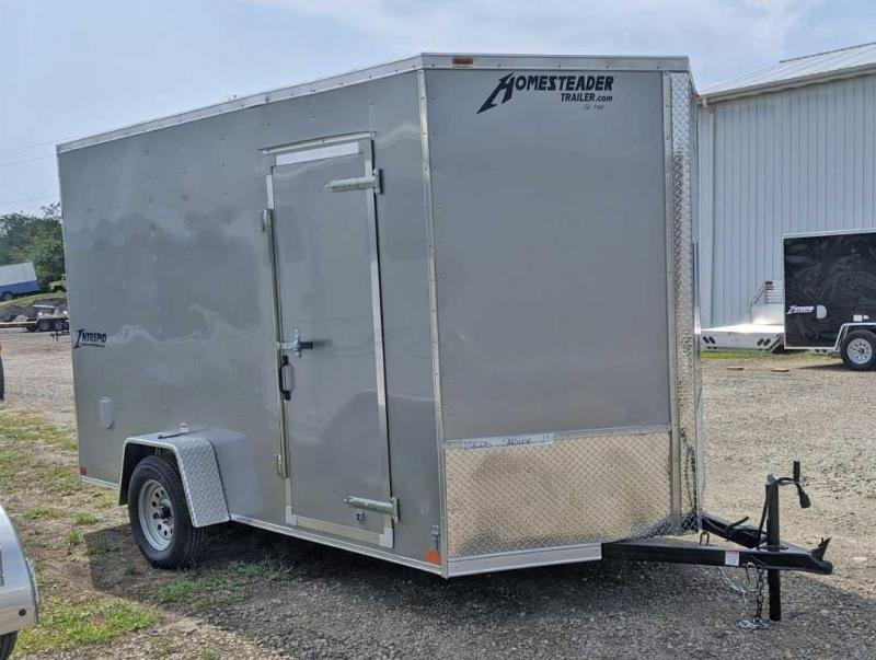 NEW 2021 Homesteader 7x12 Intrepid V-Nose Cargo Trailer w/ Ramp Door (Ramp Extension)