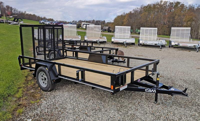 NEW 2021 CAM SUPERLINE 6x12 Tubular Top Rail Powdercoated Utility Trailer