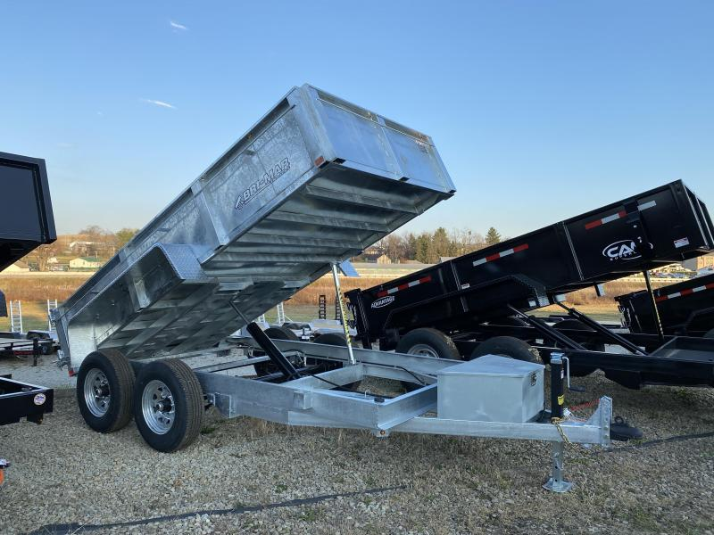 NEW 2021 Bri-Mar 6x12 Lo Pro GALVANIZED Equipment Dump w/ Combo Gate