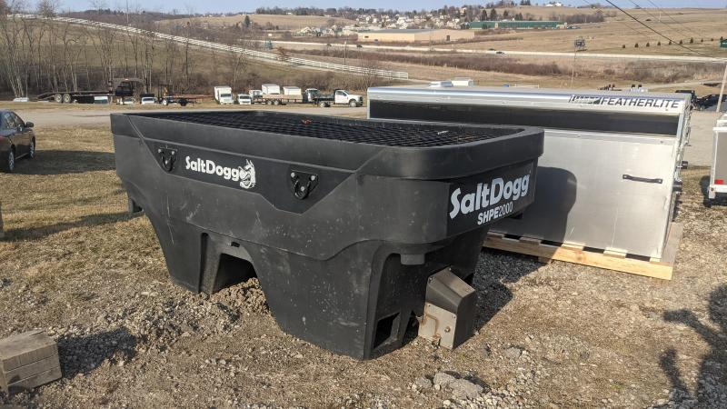 USED/LIKE NEW 2020 SALTDOGG 2.0 CU YD POLY HOPPER SPREADER w/ Extended Chute